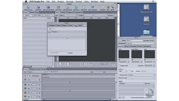 Understanding the interface: DVD Studio Pro 4 Essential Training