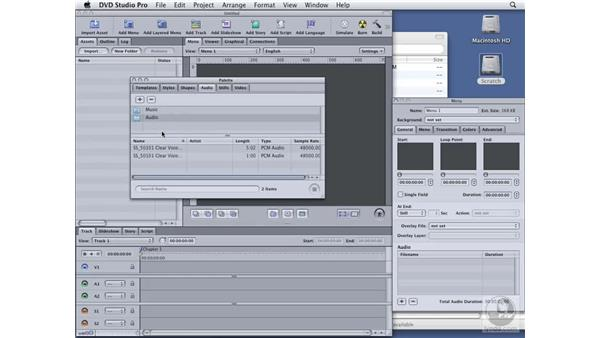 Working with palettes: DVD Studio Pro 4 Essential Training