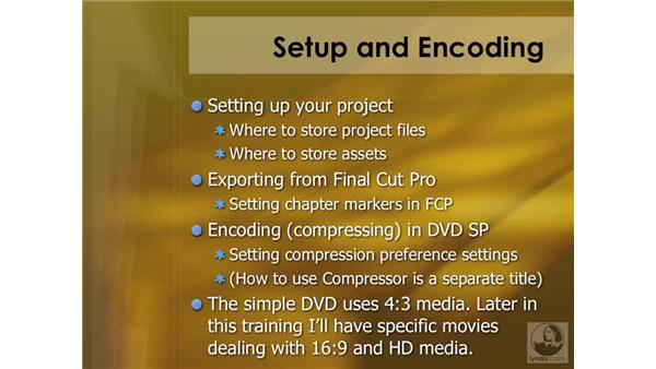 Introducing the Setup and Export features: DVD Studio Pro 4 Essential Training