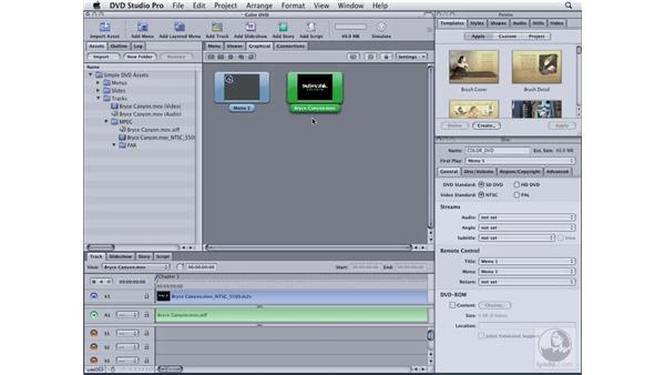 Creating tracks: DVD Studio Pro 4 Essential Training