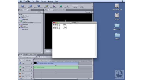 Adding chapter markers: DVD Studio Pro 4 Essential Training