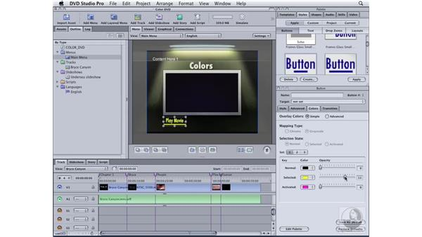 Creating a menu from a template: DVD Studio Pro 4 Essential Training