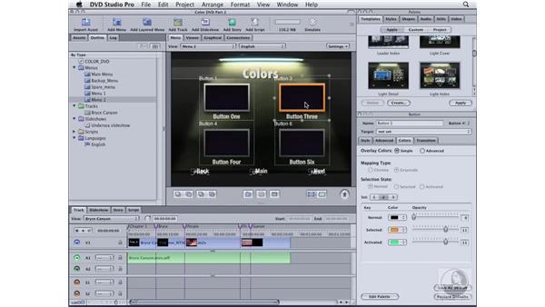 Customizing a menu template: DVD Studio Pro 4 Essential Training