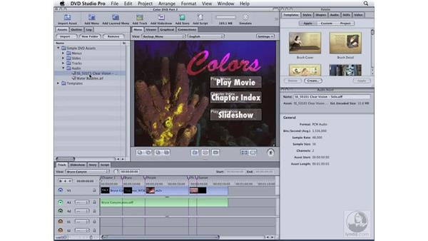 Menu tricks: DVD Studio Pro 4 Essential Training