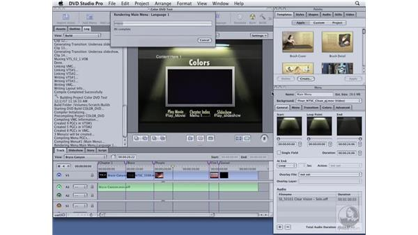 Outputting your DVD: DVD Studio Pro 4 Essential Training