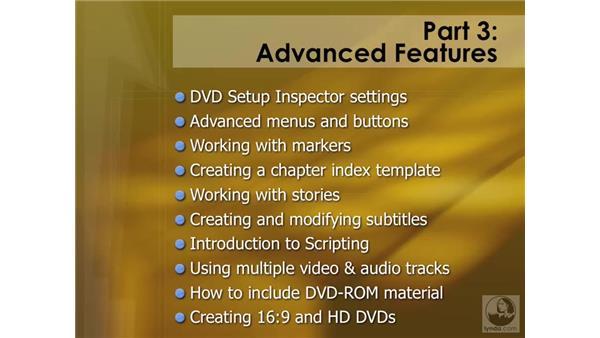 Understanding advanced features: DVD Studio Pro 4 Essential Training
