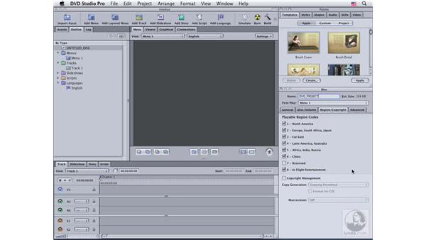 Working with the DVD Inspector: DVD Studio Pro 4 Essential Training