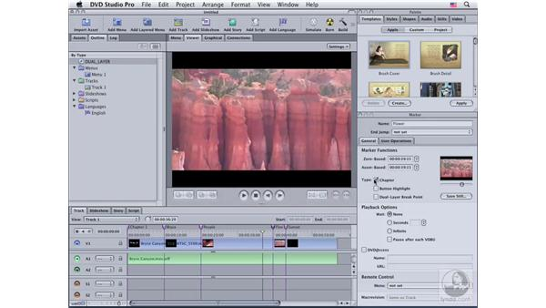 Working with dual-layer discs: DVD Studio Pro 4 Essential Training