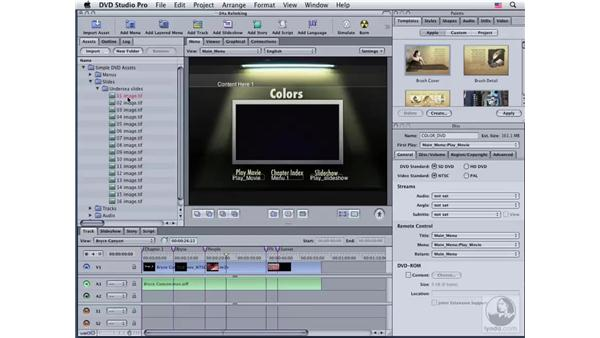 Relinking files: DVD Studio Pro 4 Essential Training