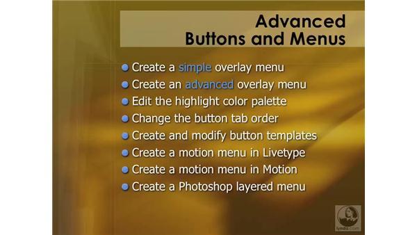 Introducing menus: DVD Studio Pro 4 Essential Training