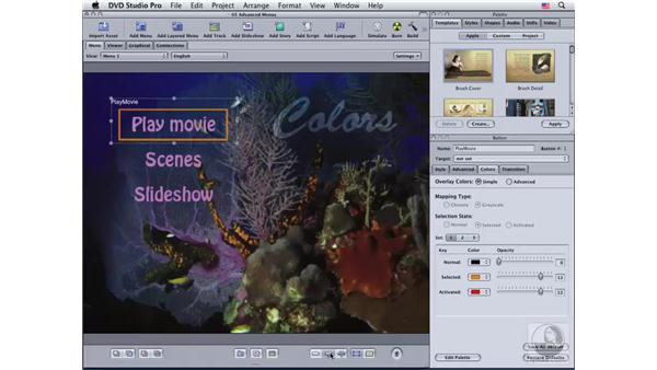 Creating a simple overlay menu: DVD Studio Pro 4 Essential Training