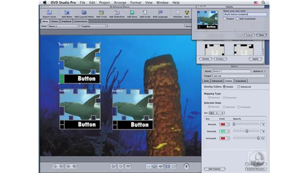 Creating and modifying button templates: DVD Studio Pro 4 Essential Training