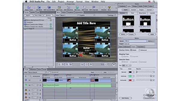 Creating a chapter index from scratch: DVD Studio Pro 4 Essential Training