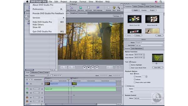 Using markers: DVD Studio Pro 4 Essential Training