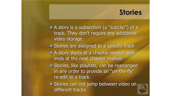 Introducing stories: DVD Studio Pro 4 Essential Training