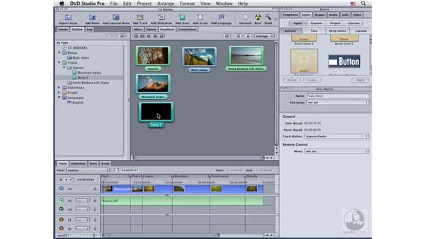 Building a simple story: DVD Studio Pro 4 Essential Training