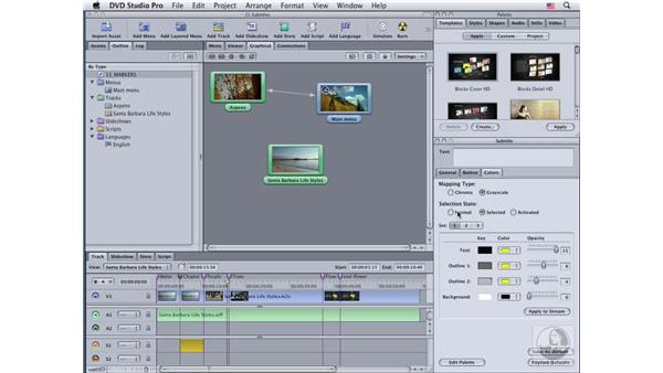 Using buttons over video: DVD Studio Pro 4 Essential Training