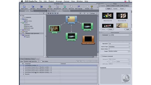 Working with multiple audio and video streams: DVD Studio Pro 4 Essential Training