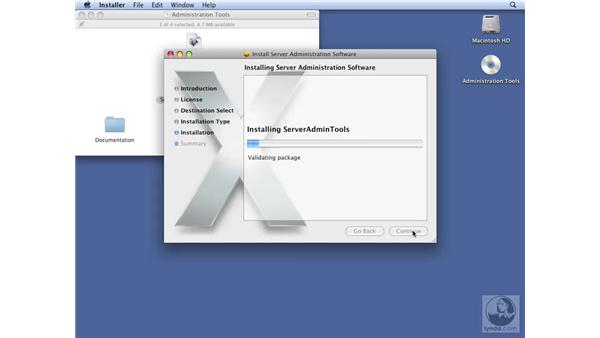 Installing server administrative tools on Leopard client: Mac OS X Server 10.5 Leopard Essential Training
