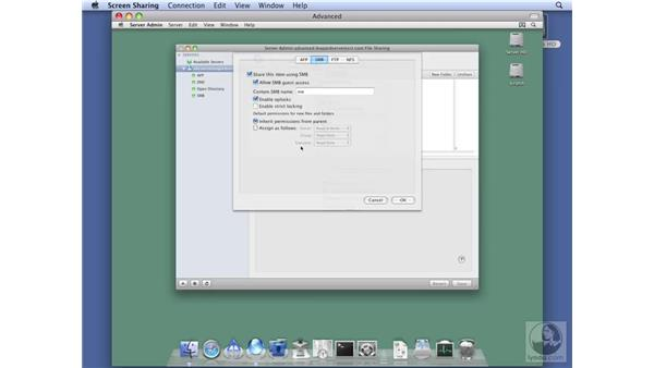 Configuring SMB protocol options: Mac OS X Server 10.5 Leopard Essential Training
