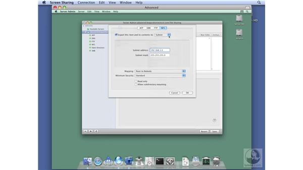 Configuring NFS protocol options: Mac OS X Server 10.5 Leopard Essential Training