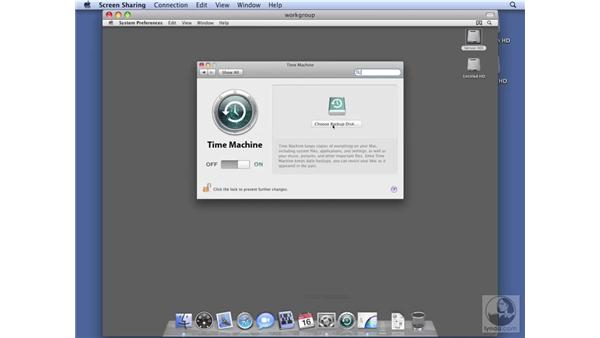 Configuring Time Machine on Workgroup Server: Mac OS X Server 10.5 Leopard Essential Training