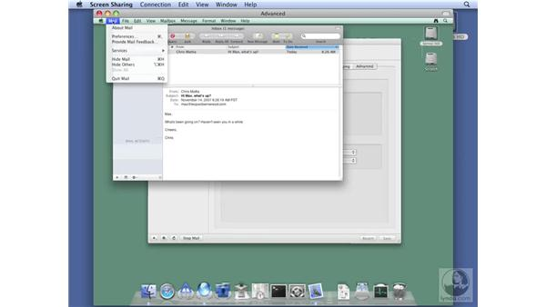 Testing the mail service on Mac OS X: Mac OS X Server 10.5 Leopard Essential Training