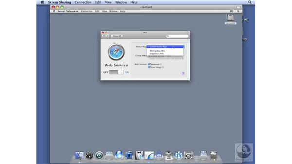 Configuring web services on Standard Server: Mac OS X Server 10.5 Leopard Essential Training