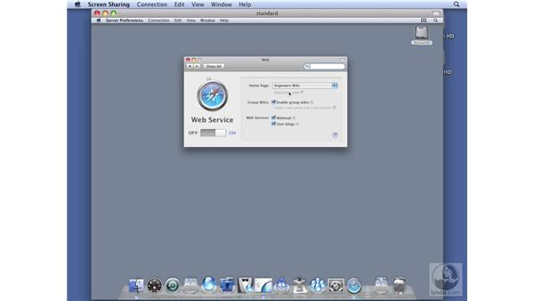 Configuring wiki services on Standard Server: Mac OS X Server 10.5 Leopard Essential Training