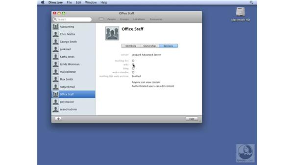 Testing wiki access from a web browser: Mac OS X Server 10.5 Leopard Essential Training