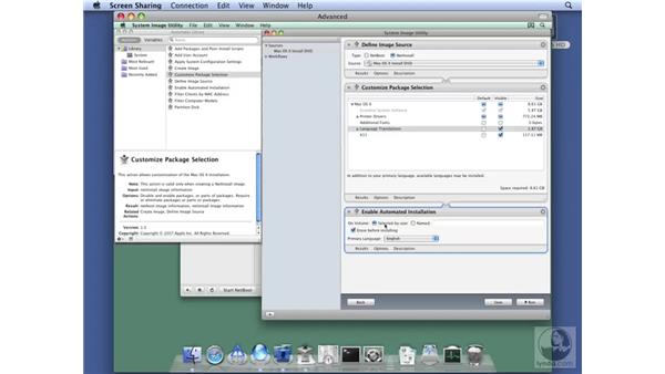 Creating NetInstall images: Mac OS X Server 10.5 Leopard Essential Training