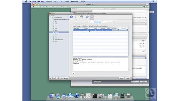 Enabling a NetInstall image : Mac OS X Server 10.5 Leopard Essential Training