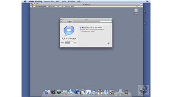 Configuring iChat services on Standard Server: Mac OS X Server 10.5 Leopard Essential Training
