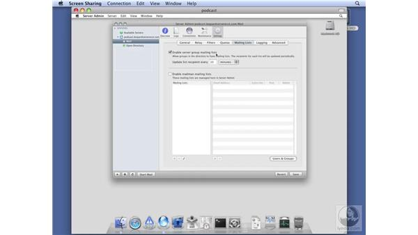 Configuring mail for Podcast Producer: Mac OS X Server 10.5 Leopard Essential Training