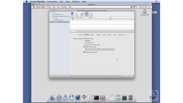 Configuring web services for Podcast Producer: Mac OS X Server 10.5 Leopard Essential Training
