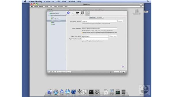 Configuring Podcast Producer service: Mac OS X Server 10.5 Leopard Essential Training