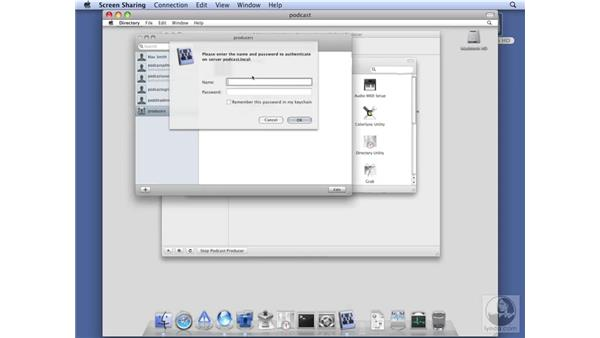 Configuring Directory.app for Podcast Producer: Mac OS X Server 10.5 Leopard Essential Training