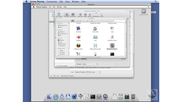 Creating a podcast: Mac OS X Server 10.5 Leopard Essential Training
