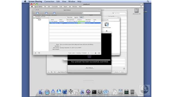 Monitoring progress with Xgrid: Mac OS X Server 10.5 Leopard Essential Training