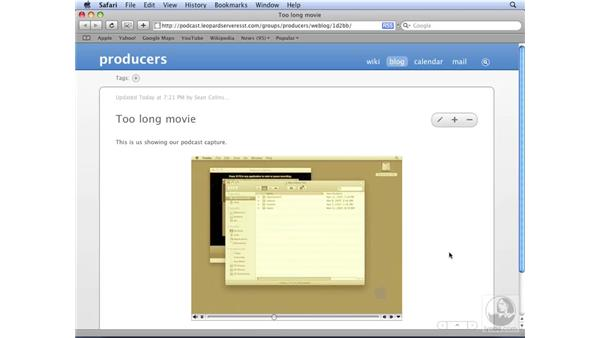 Checking your podcast: Mac OS X Server 10.5 Leopard Essential Training