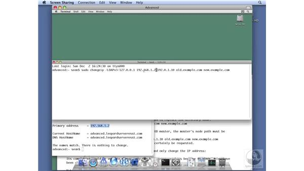 Using ChangeIP to change a server's IP address: Mac OS X Server 10.5 Leopard Essential Training