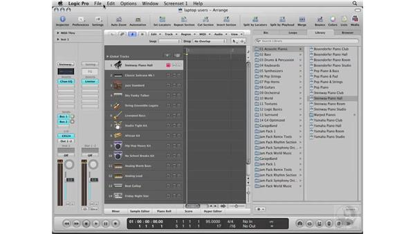 An important note for laptop users: Logic Pro 8 Essential Training