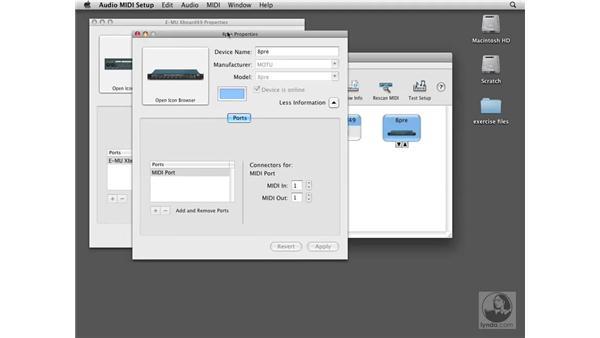 Setting up MIDI interfaces: Logic Pro 8 Essential Training