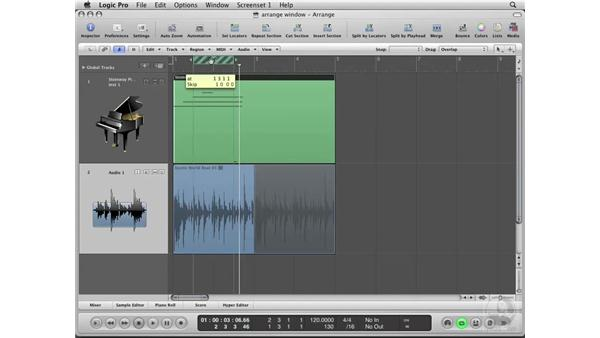 Customizing the Arrange window: Logic Pro 8 Essential Training