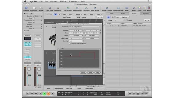Exploring Tempo options: Logic Pro 8 Essential Training