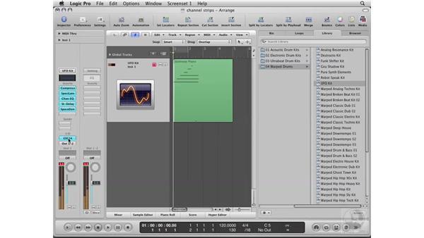 Using Channel Strips: Logic Pro 8 Essential Training