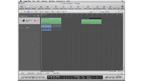 Using Tracks: Logic Pro 8 Essential Training