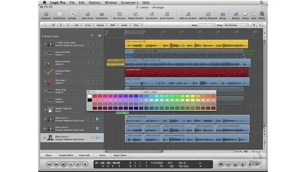 Coloring Regions: Logic Pro 8 Essential Training