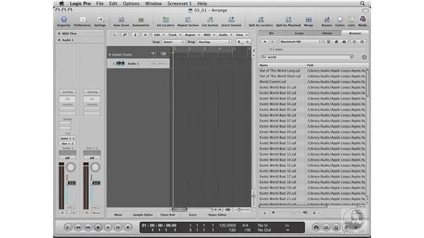 Using the Window Media Browser: Logic Pro 8 Essential Training