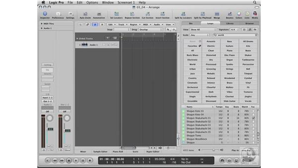 Favoriting Loops: Logic Pro 8 Essential Training